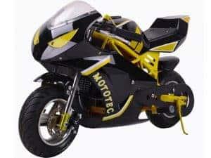 MotoTec Gas Pocket Bike GT 49cc 2-Stroke Yellow_4