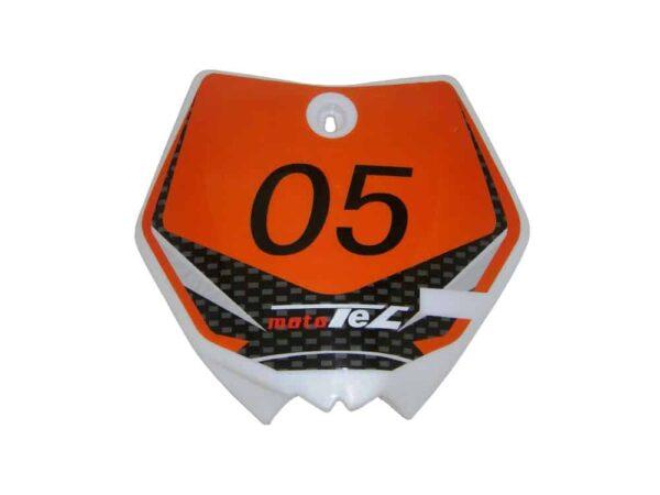 MotoTec Dirt Bike - Number Plate