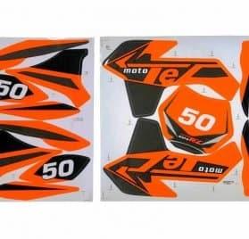 MotoTec Dirt Bike - Sticker Kit - Orange