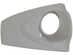 MotoTec Electric Moped Headlight Body Panel White