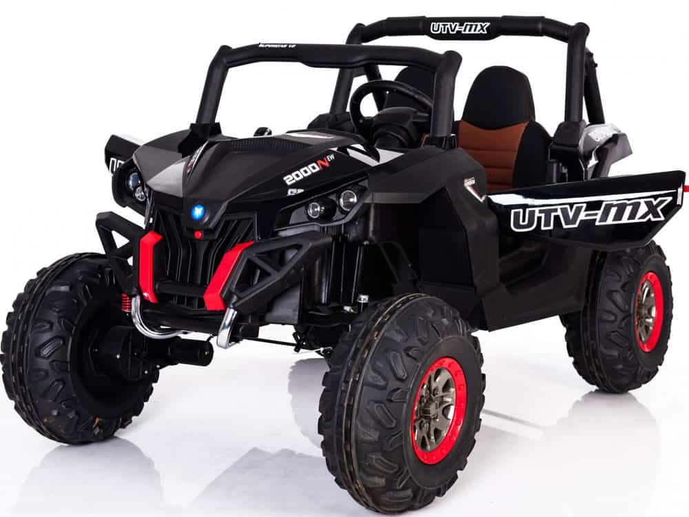 Mini Moto UTV 4x4 12v Black (2.4ghz RC)