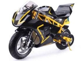 MotoTec 36v 500w Electric Pocket Bike GP Yellow_2