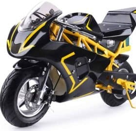 MotoTec 36v 500w Electric Pocket Bike GP Yellow_2