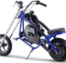 MotoTec 49cc Gas Mini Chopper Blue