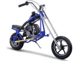 MotoTec 49cc Gas Mini Chopper Blue_4
