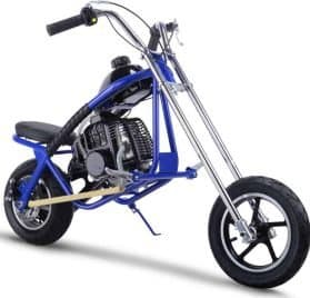 MotoTec 49cc Gas Mini Chopper Blue_4