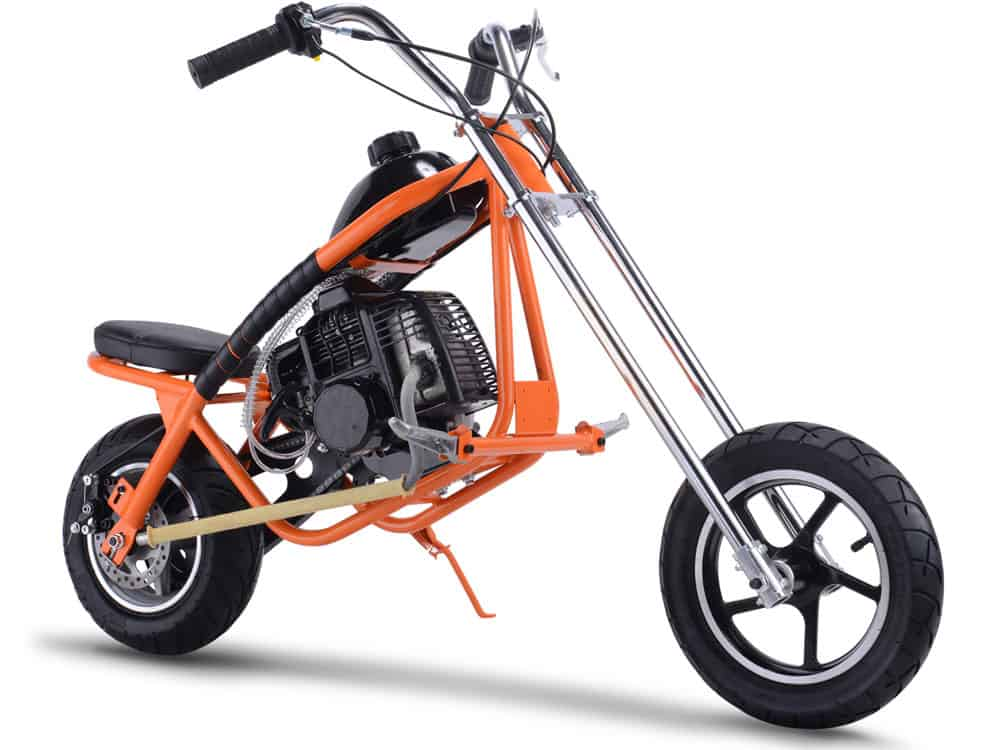 MotoTec 49cc Gas Mini Chopper Orange_4