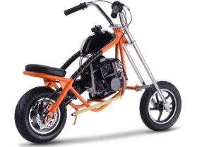 MotoTec 49cc Gas Mini Chopper Orange_5