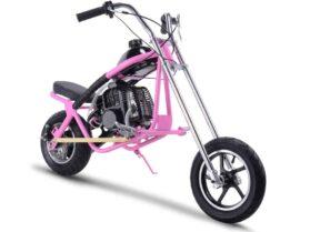 MotoTec 49cc Gas Mini Chopper Pink_4