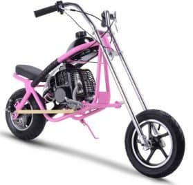 MotoTec 49cc Gas Mini Chopper Pink_4