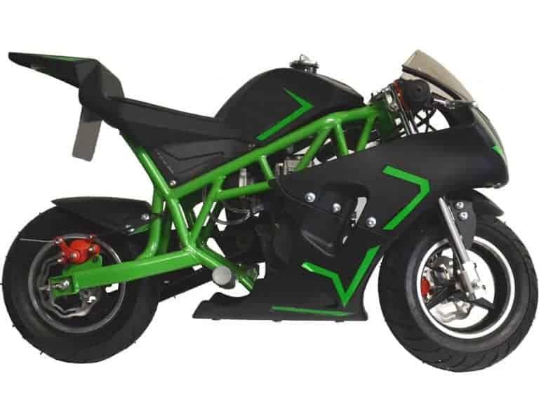 MotoTec Cali Gas Pocket Bike 40cc 4-Stroke Green