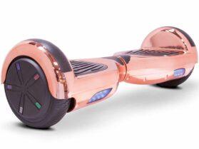 MotoTec Self Balancing Scooter 24v 6.5in Rose Gold Chrome