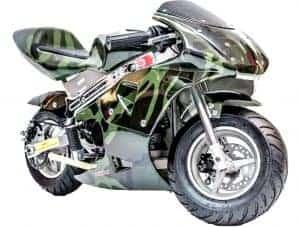 Rosso Gas Pocket Bike 33cc 2-Stroke Army