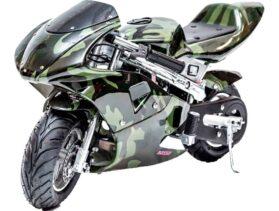 Rosso Gas Pocket Bike 33cc 2-Stroke Army_4