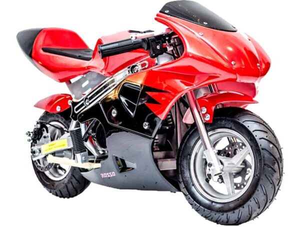 Rosso Gas Pocket Bike 33cc 2-Stroke Red