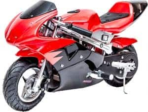 Rosso Gas Pocket Bike 33cc 2-Stroke Red_4