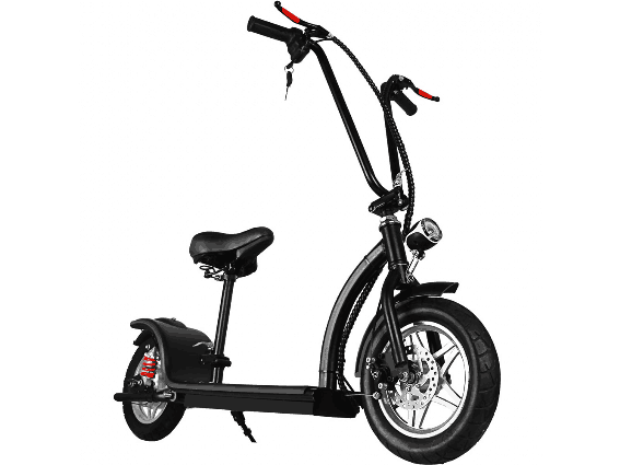 MotoTec 36v 350w Lithium Folding Electric Scooter Black