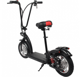 MotoTec 36v 350w Lithium Folding Electric Scooter Black_2