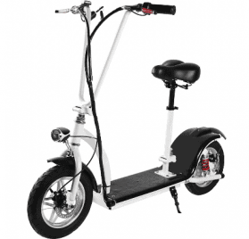 MotoTec 36v 350w Lithium Folding Electric Scooter White_2