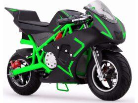 MotoTec Cali 36v Electric Pocket Bike Green