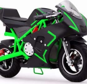 MotoTec Cali 36v Electric Pocket Bike Green