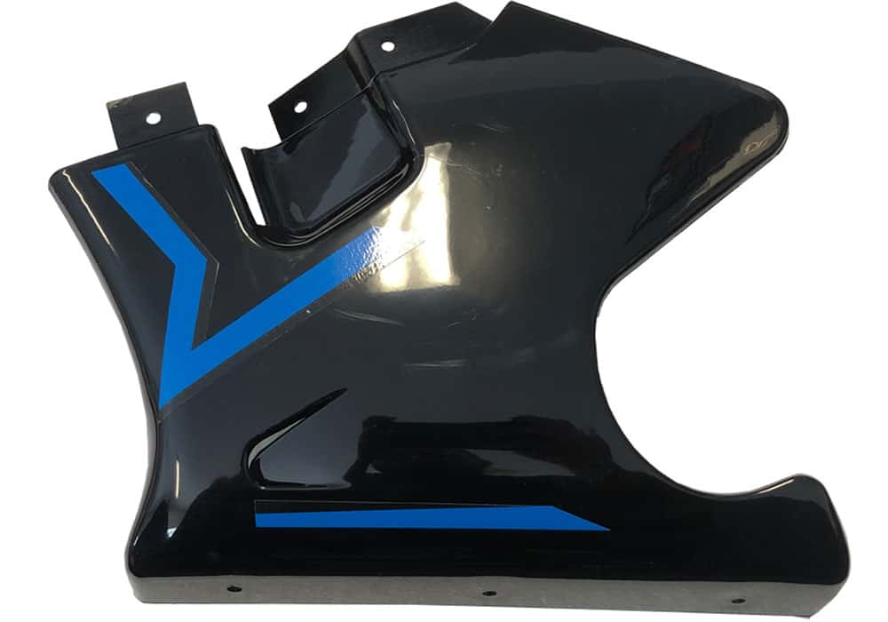 MotoTec Electric Pocket Bike Left Fairing Blue