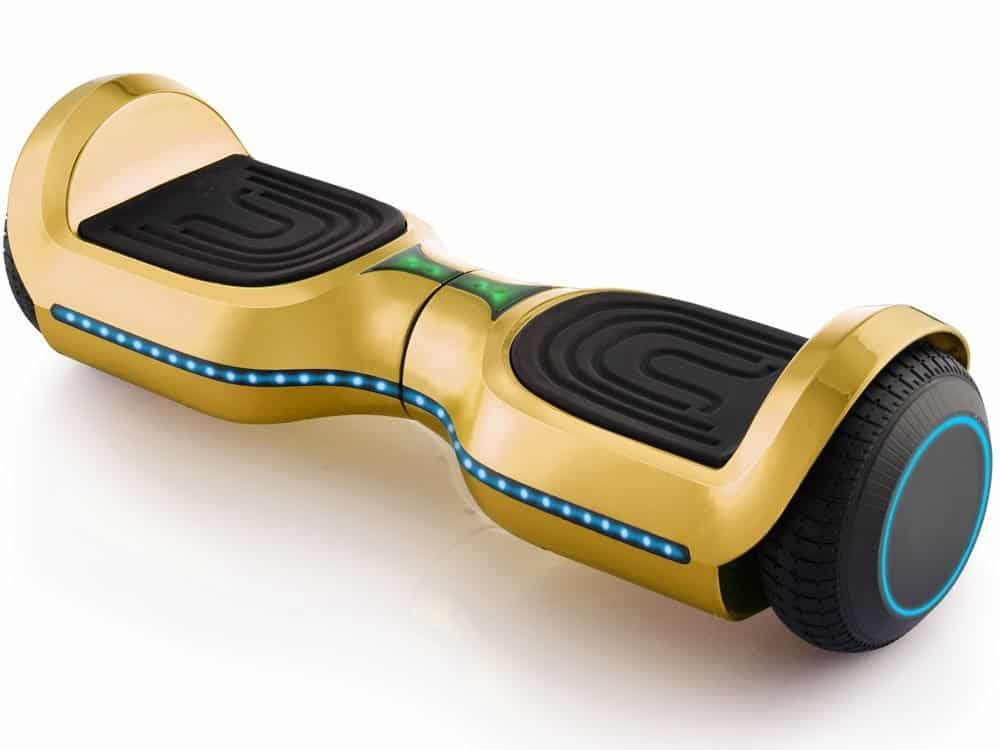 MotoTec Hoverboard 24v 6.5in Wheel L17 Pro Gold