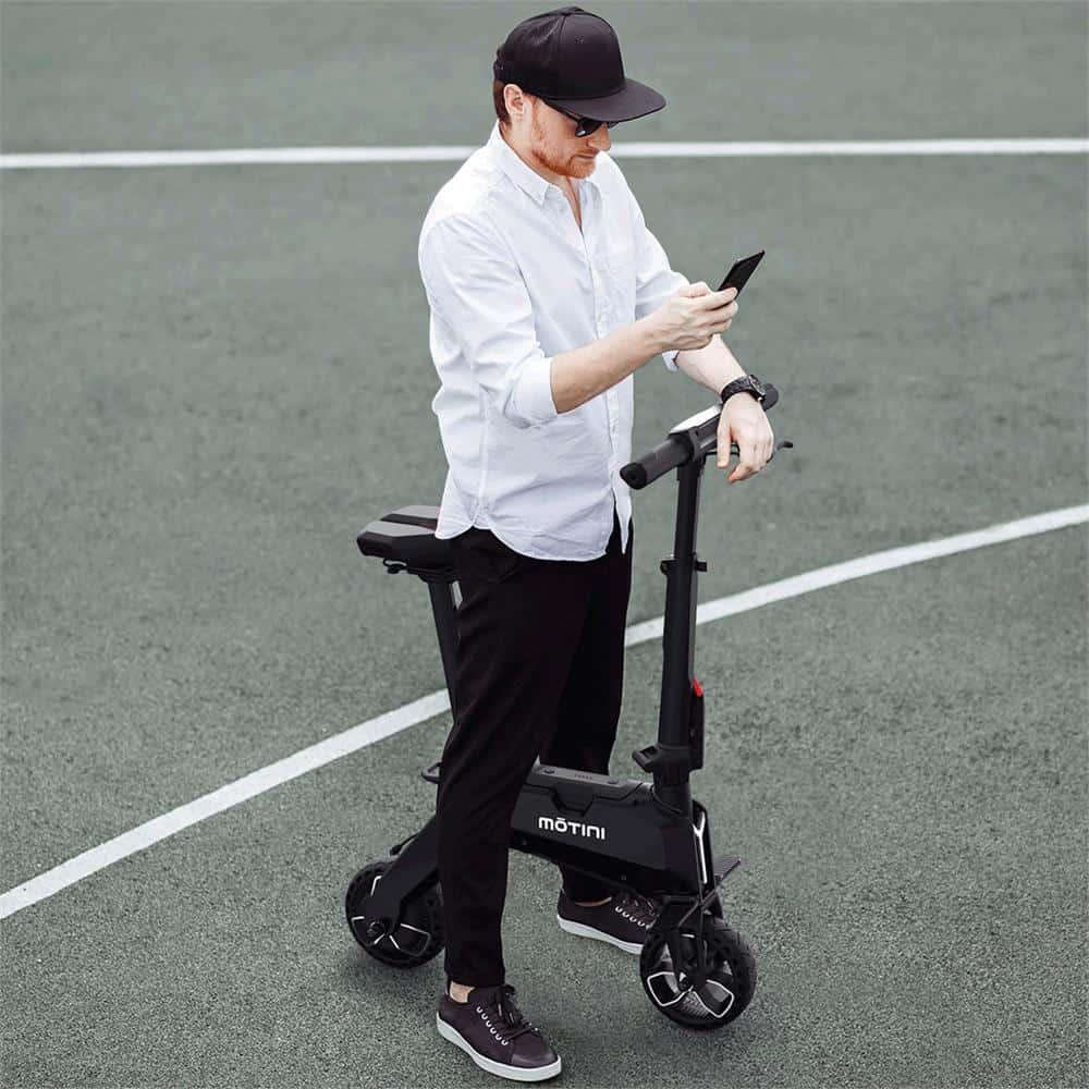 Motini Nano 36v 250w Lithium Electric Scooter White_5