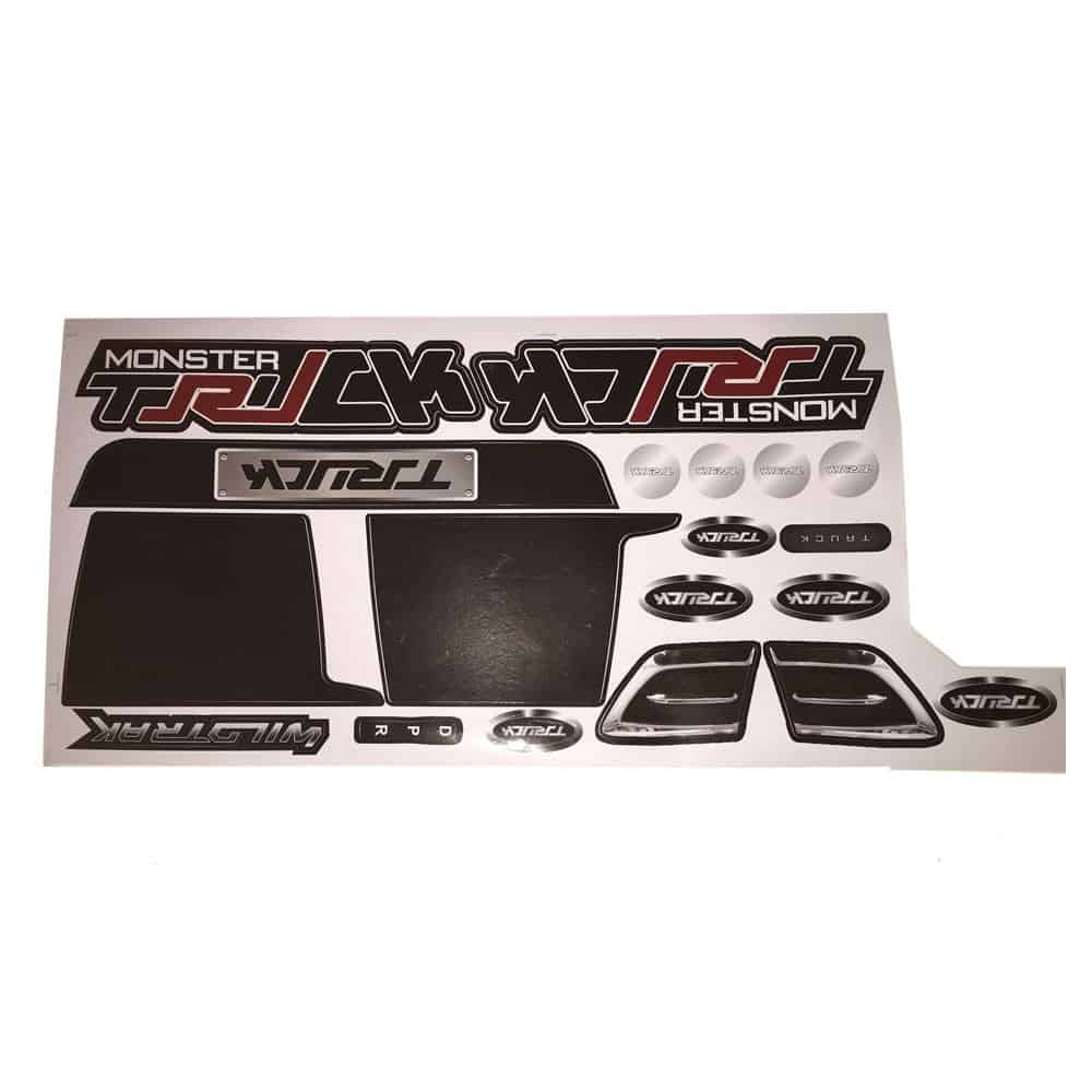 MotoTec Monster Truck 4x4 12v Sticker Kit