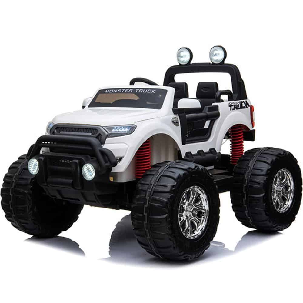 MotoTec Monster Truck 4x4 12v White (2.4ghz)
