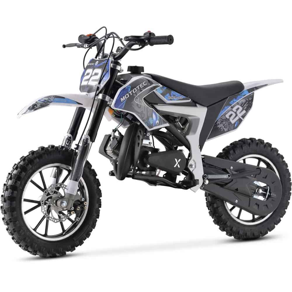MotoTec 50cc Demon Kids Gas Dirt Bike Blue