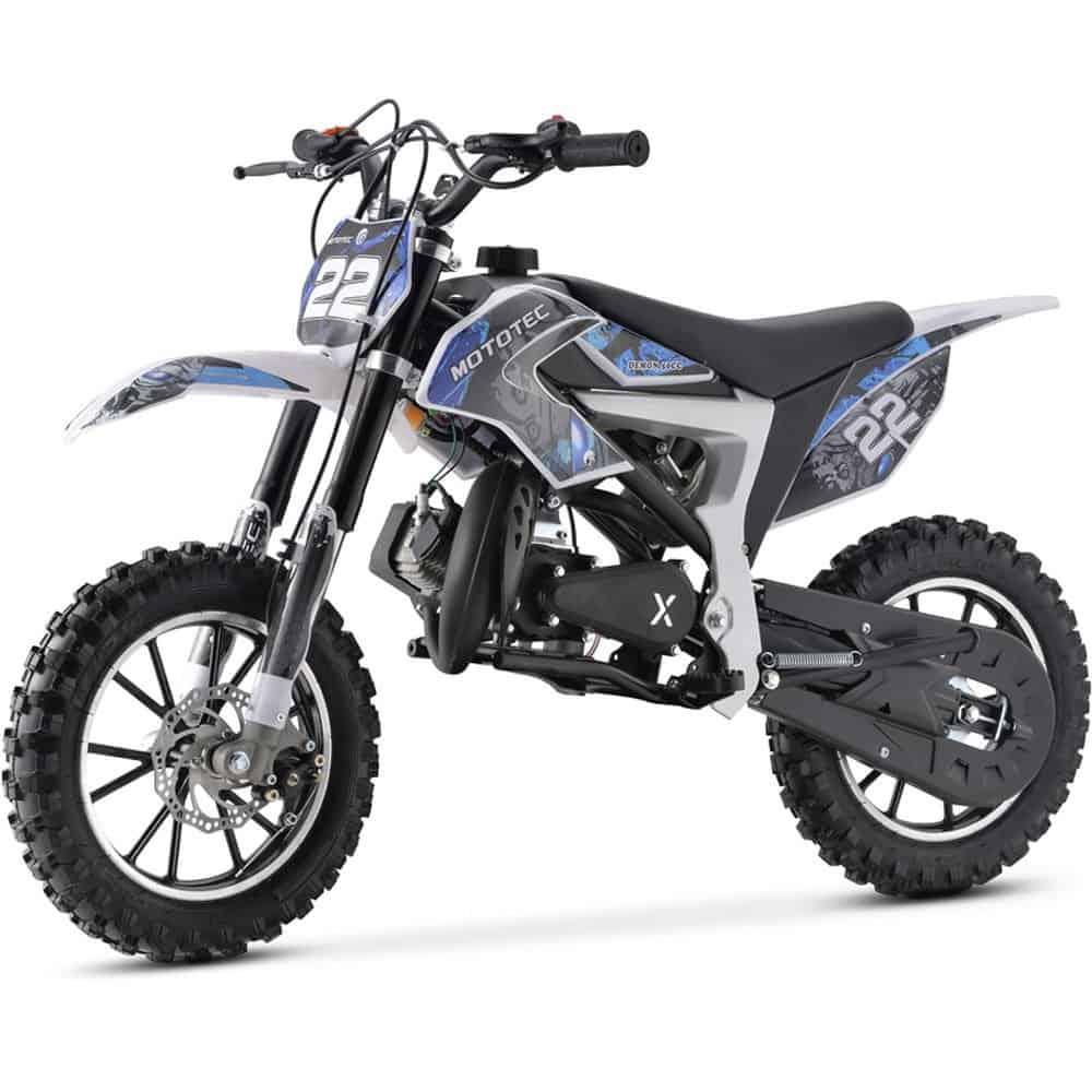 MotoTec 50cc Demon Kids Gas Dirt Bike Blue