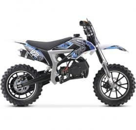 MotoTec 50cc Demon Kids Gas Dirt Bike Blue_3