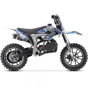 MotoTec 50cc Demon Kids Gas Dirt Bike Blue_3