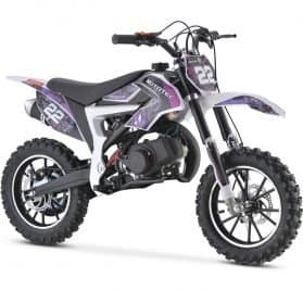 MotoTec 50cc Demon Kids Gas Dirt Bike Purple
