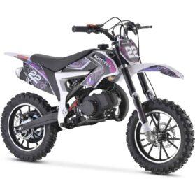 MotoTec 50cc Demon Kids Gas Dirt Bike Purple