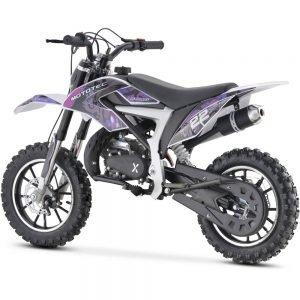 MotoTec 50cc Demon Kids Gas Dirt Bike Purple_2