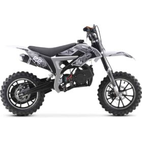 MotoTec 50cc Demon Kids Gas Dirt Bike White_3