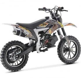 MotoTec 50cc Demon Kids Gas Dirt Bike Yellow_2