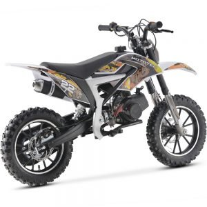MotoTec 50cc Demon Kids Gas Dirt Bike Yellow_2