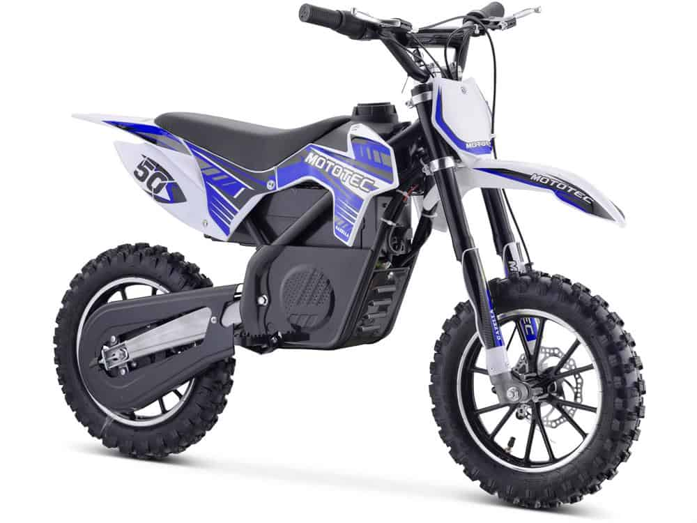 MotoTec 24v 500w Gazella Electric Dirt Bike Blue