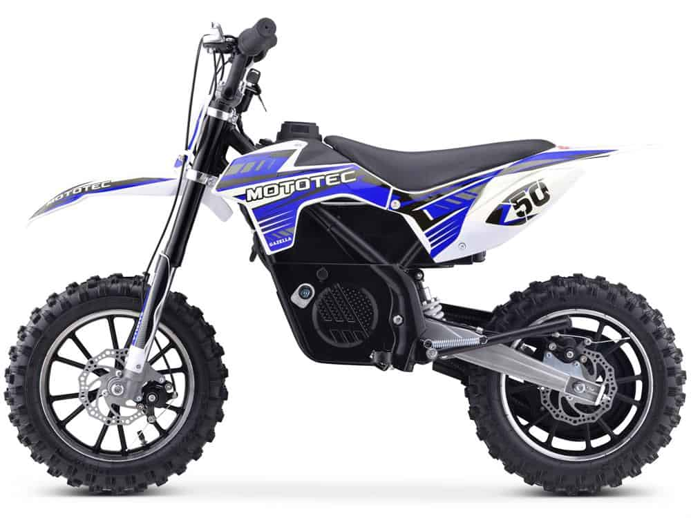 MotoTec 24v 500w Gazella Electric Dirt Bike Blue_3