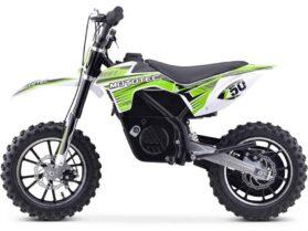 MotoTec 24v 500w Gazella Electric Dirt Bike Green