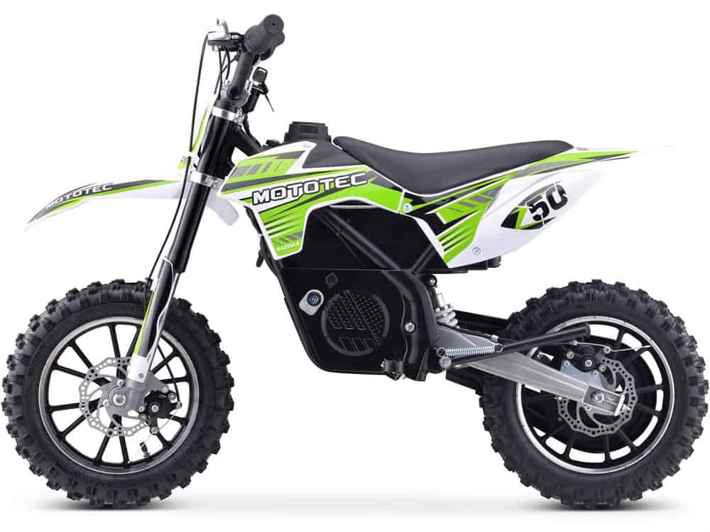 MotoTec 24v 500w Gazella Electric Dirt Bike Green