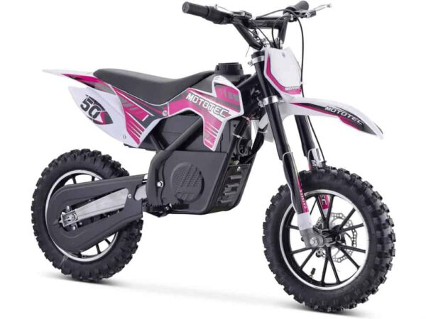 MotoTec 24v 500w Gazella Electric Dirt Bike Purple