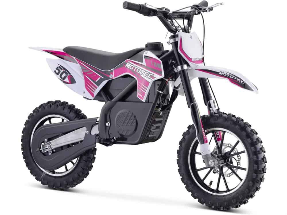 MotoTec 24v 500w Gazella Electric Dirt Bike Purple