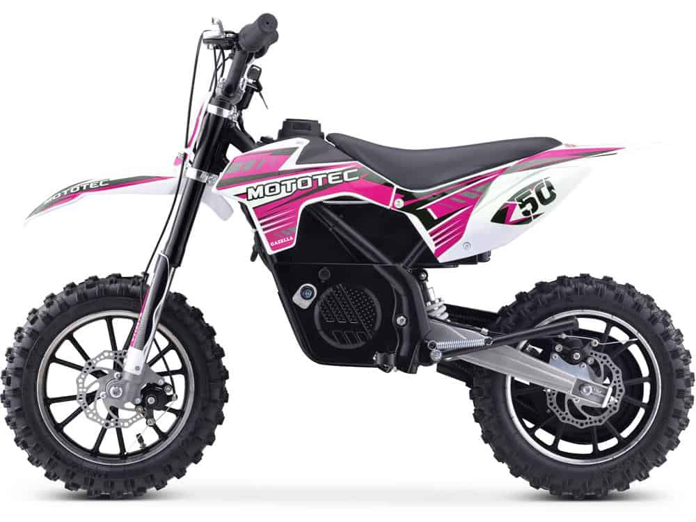 MotoTec 24v 500w Gazella Electric Dirt Bike Purple_2