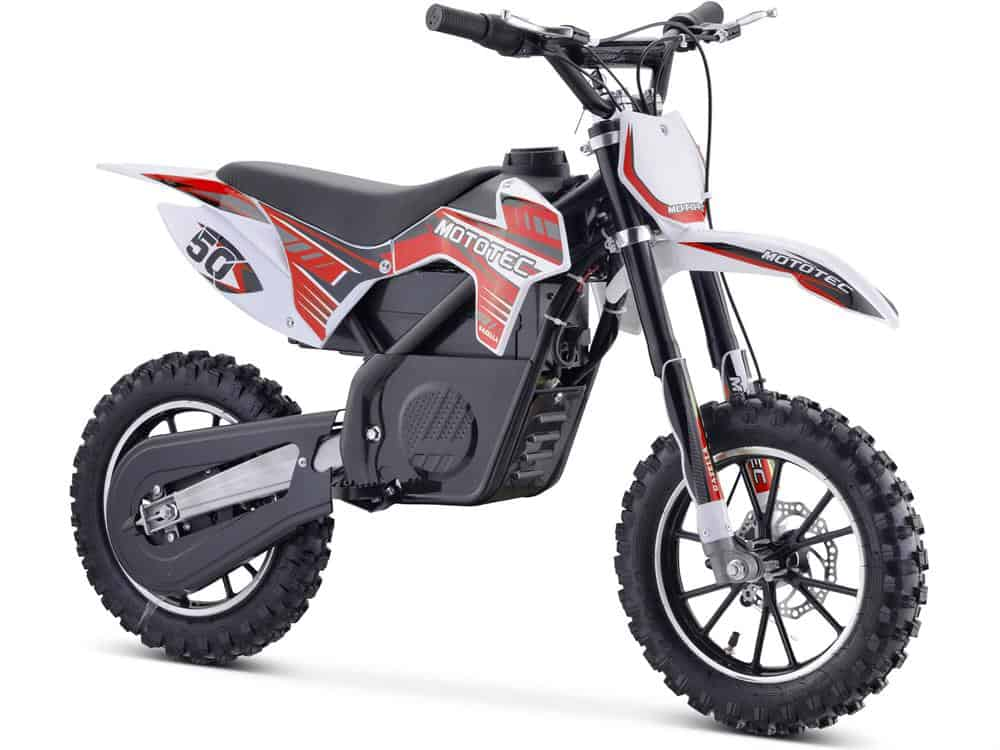 MotoTec 24v 500w Gazella Electric Dirt Bike Red