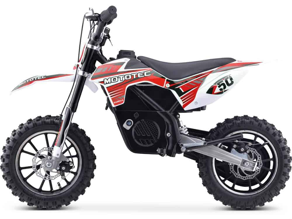 MotoTec 24v 500w Gazella Electric Dirt Bike Red_2