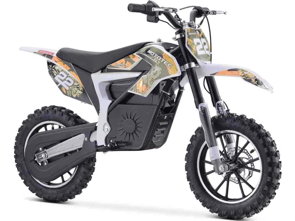 MotoTec 36v 500w Demon Electric Dirt Bike Lithium Orange